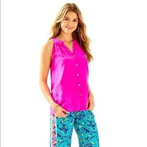 Lilly Pulitzer Berry Sangria Bailey Top